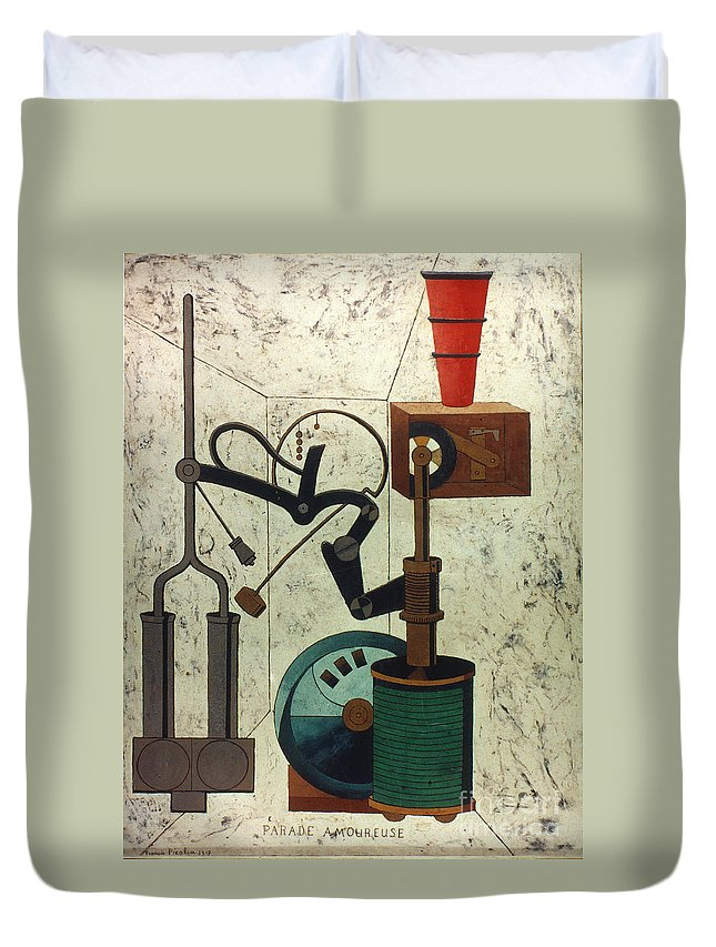 1917 Duvet Cover featuring the photograph Picabia: Parade by Granger