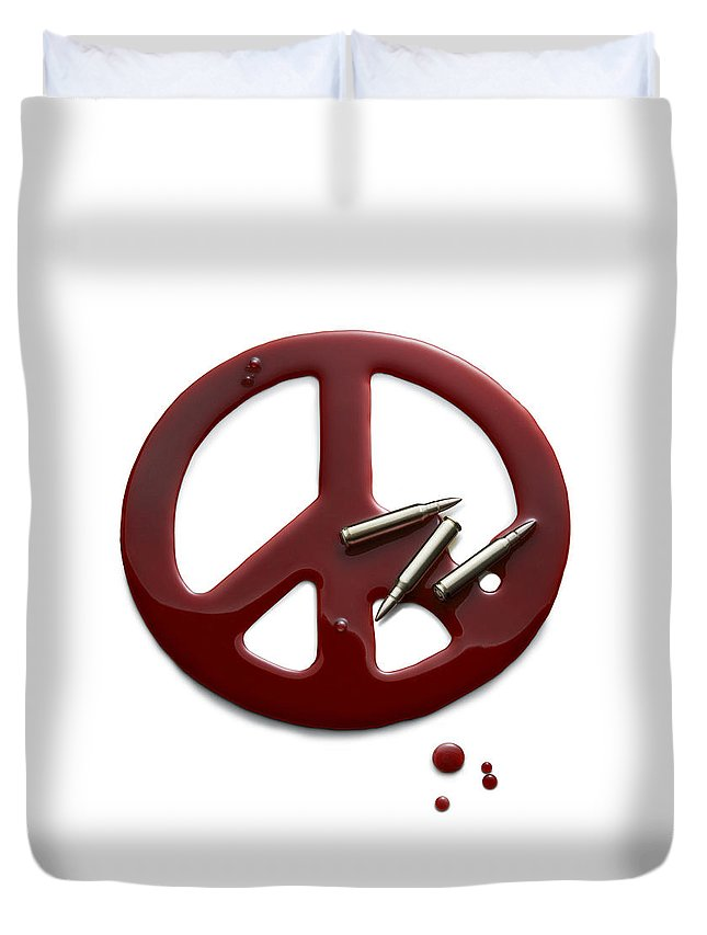 Peace Duvet Cover featuring the photograph Peace Talks by Sigthor Markusson
