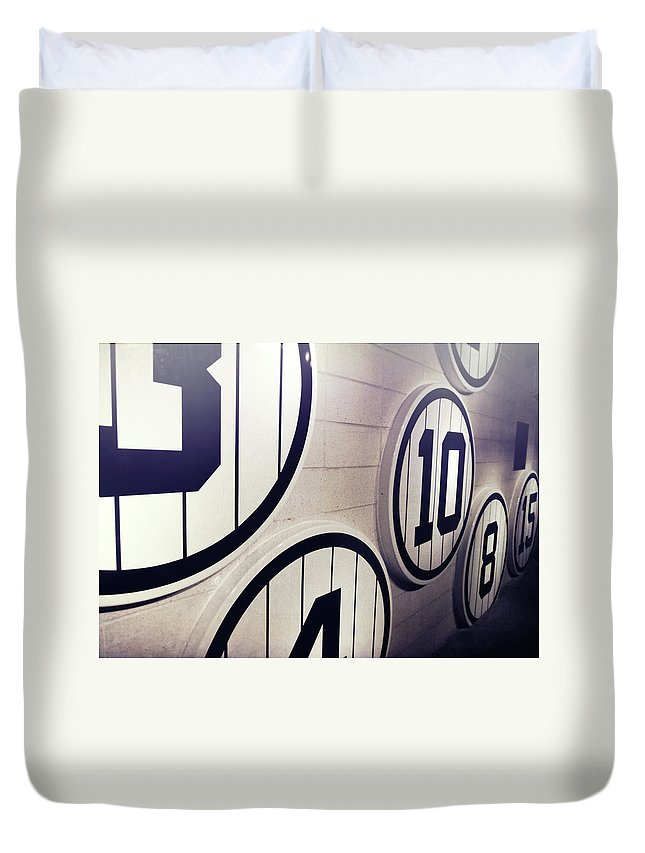 Yankee Duvet Cover featuring the photograph Pick A Number by JAMART Photography