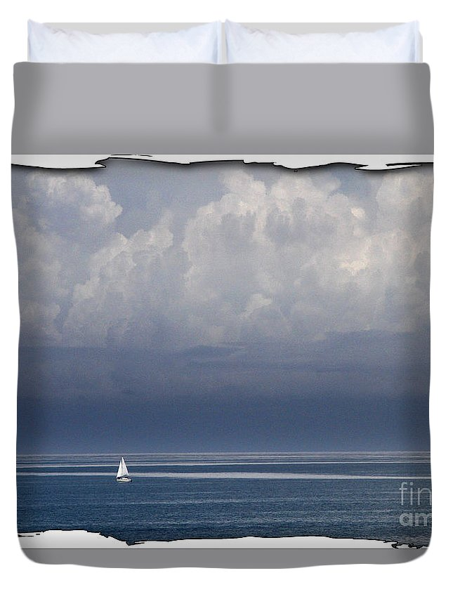 Water Duvet Cover featuring the photograph Picture Perfect by Mariarosa Rockefeller