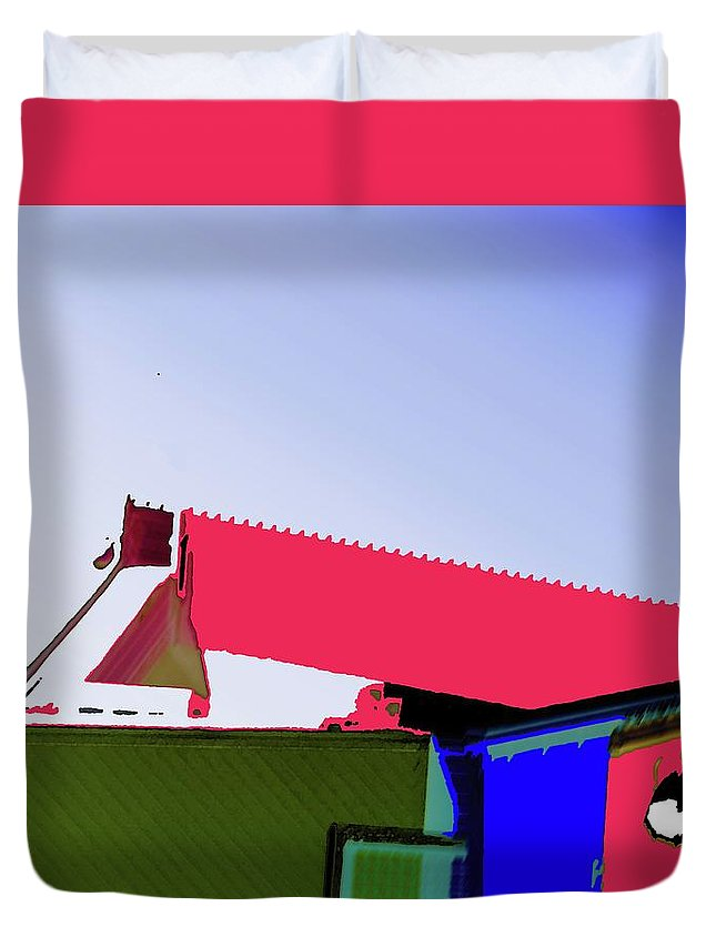 Pier Duvet Cover featuring the digital art Pier Abstraction by Ronald Irwin