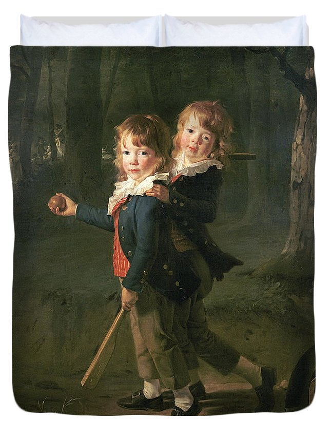 Game Duvet Cover featuring the painting Pierre Danloux by Henri