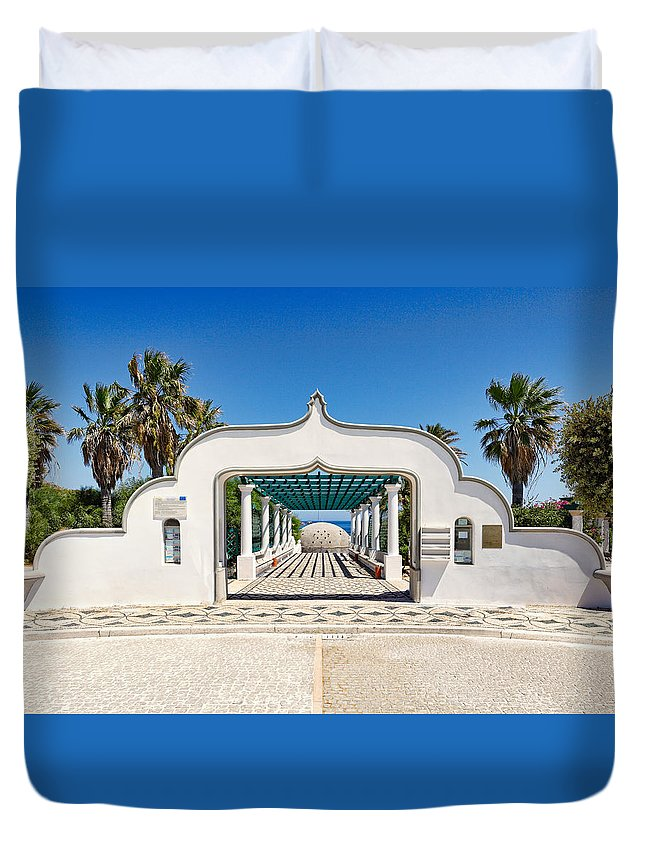 Piges Duvet Cover featuring the photograph Piges Kallitheas In Rhodes - Greece. by Constantinos Iliopoulos