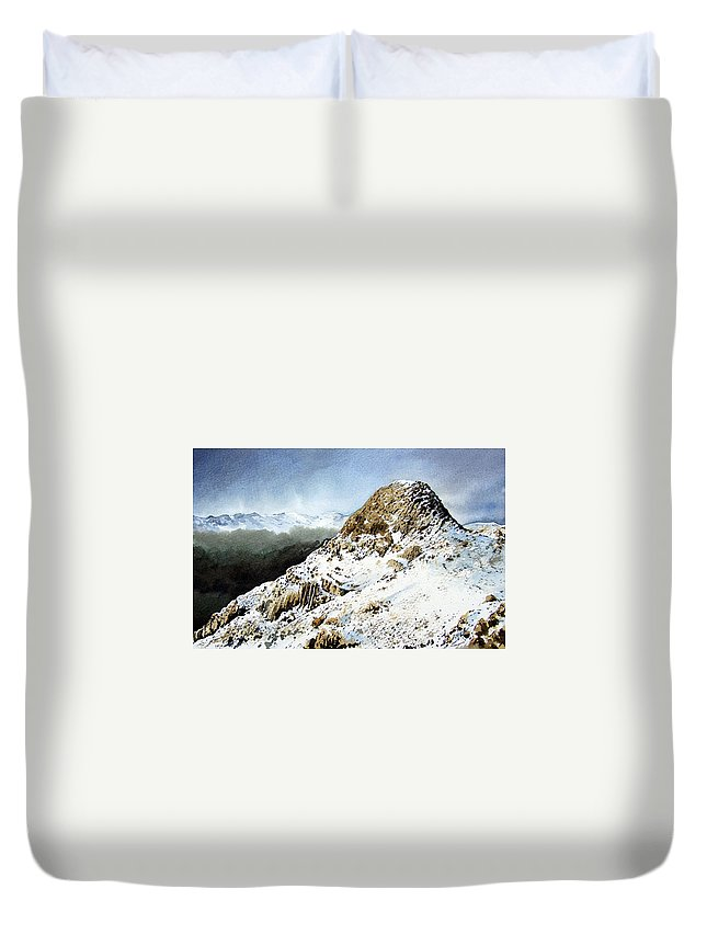 Pike O' Stickle Duvet Cover featuring the painting Pike O' Stickle by Paul Dene Marlor