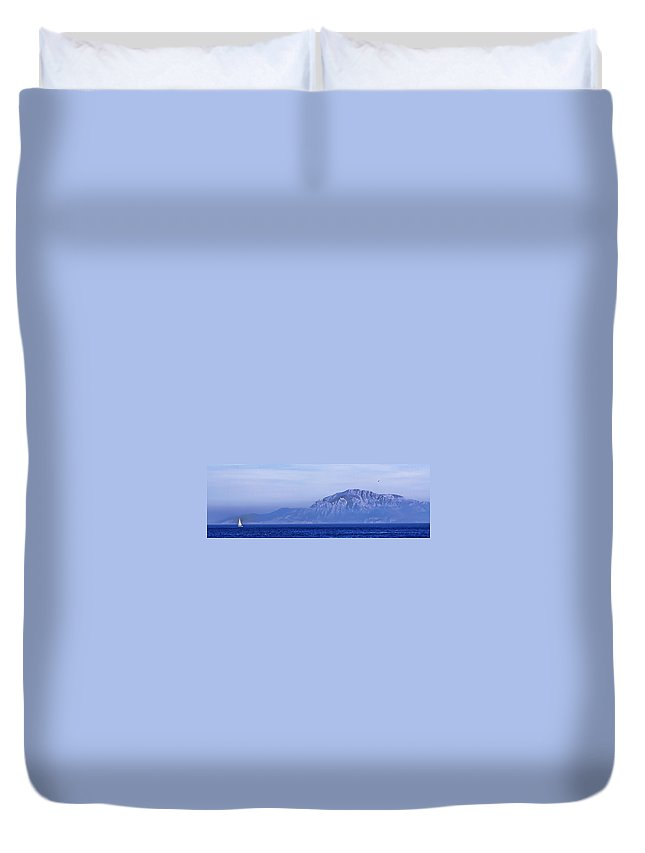 Atlas Mountains Duvet Cover featuring the photograph Pilars Of Hercules by Donovan Torres