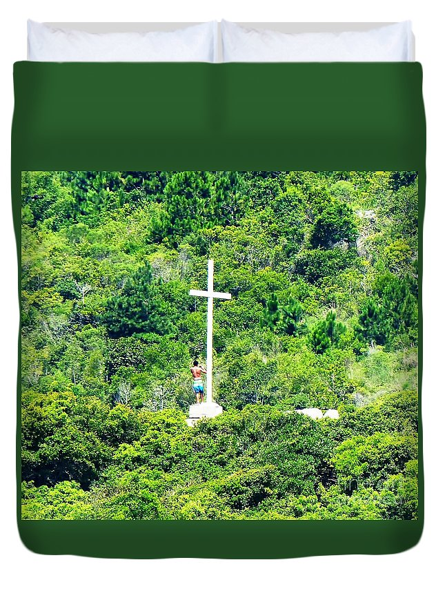 Man Duvet Cover featuring the photograph Pilgrimage by Carlos Amaro