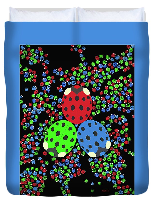 Lady Bug Duvet Cover featuring the digital art Pilgrimage by Tommy Marblo
