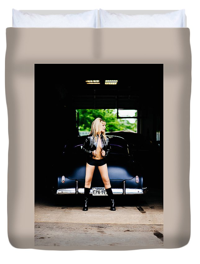 Sexy Duvet Cover featuring the photograph Pin Up #5 by Susan Sprague