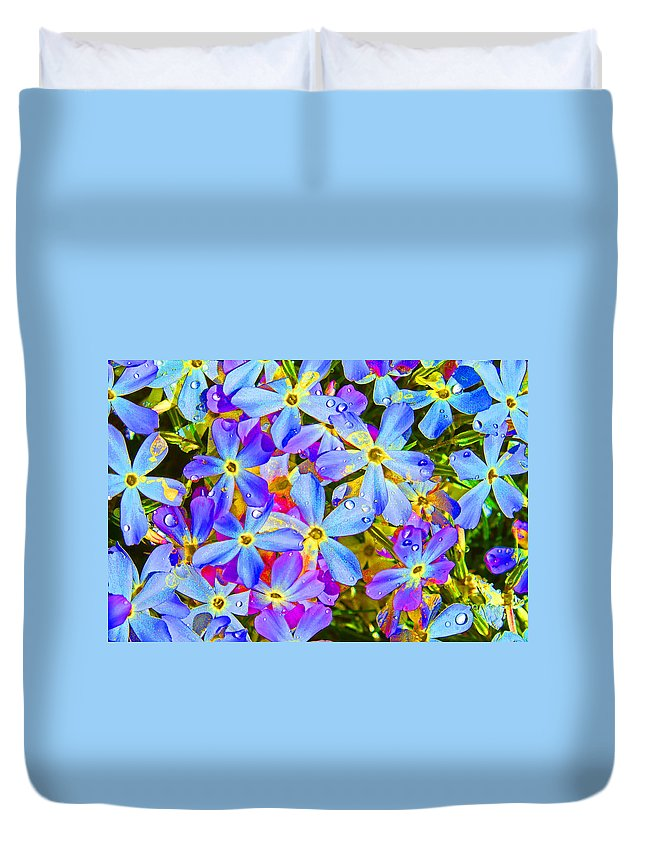 Wildflower Duvet Cover featuring the photograph Pincushion Flower by Heather Coen