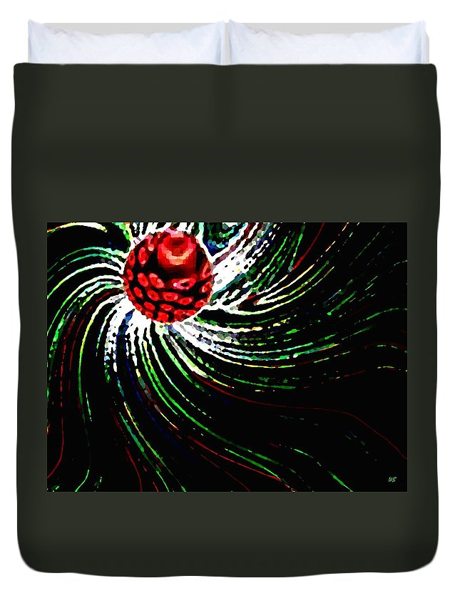 Abstract Duvet Cover featuring the digital art Pine Cone Abstract by Will Borden