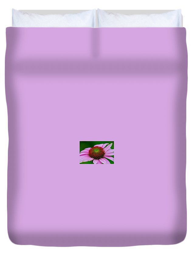 Flower Duvet Cover featuring the photograph Pink And Red by Linda Howes