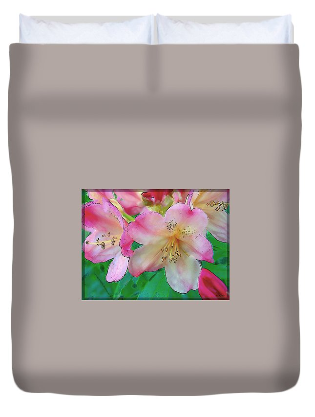 Ebsq Duvet Cover featuring the photograph Pink Azalea by Dee Flouton