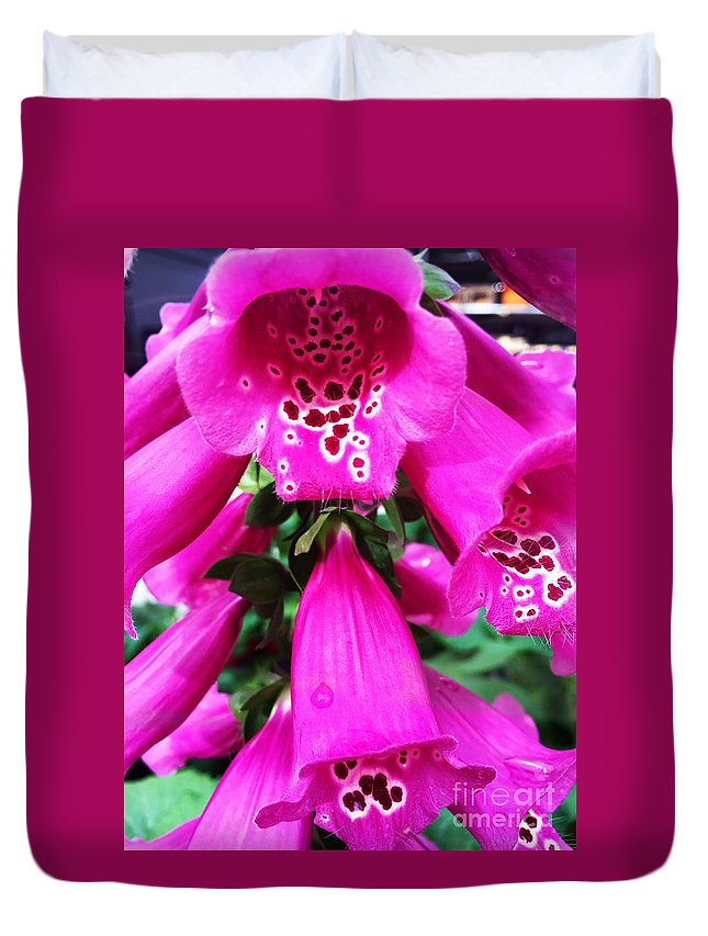 Pink Duvet Cover featuring the photograph Pink by Donna Cain