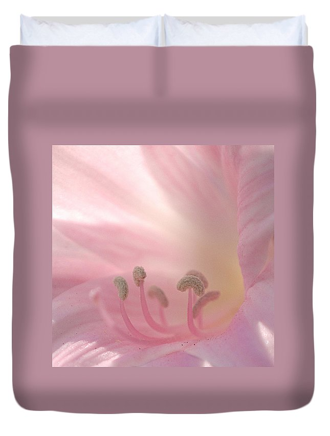Flower Duvet Cover featuring the photograph Pink Flower by Jill Reger