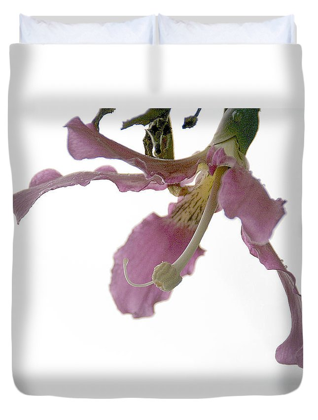 Flower Duvet Cover featuring the photograph Pink Flower by Vladi Alon