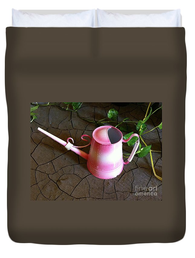 Life Duvet Cover featuring the photograph Pink Hope by Carlos Avila