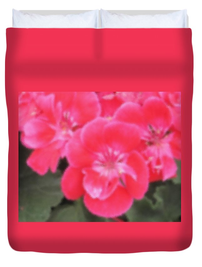 Pink Duvet Cover featuring the photograph Pink by Ian MacDonald