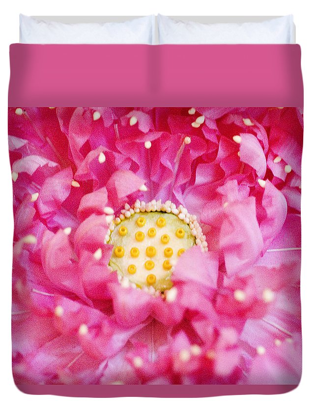Bangkok Duvet Cover featuring the photograph Pink Lotus by Ray Laskowitz - Printscapes