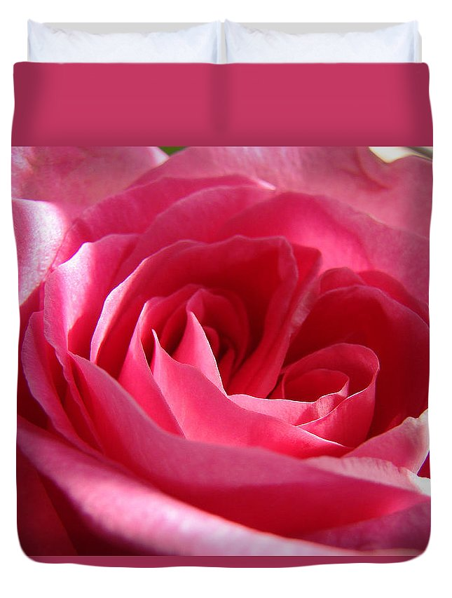 Duvet Cover featuring the photograph Pink by Luciana Seymour