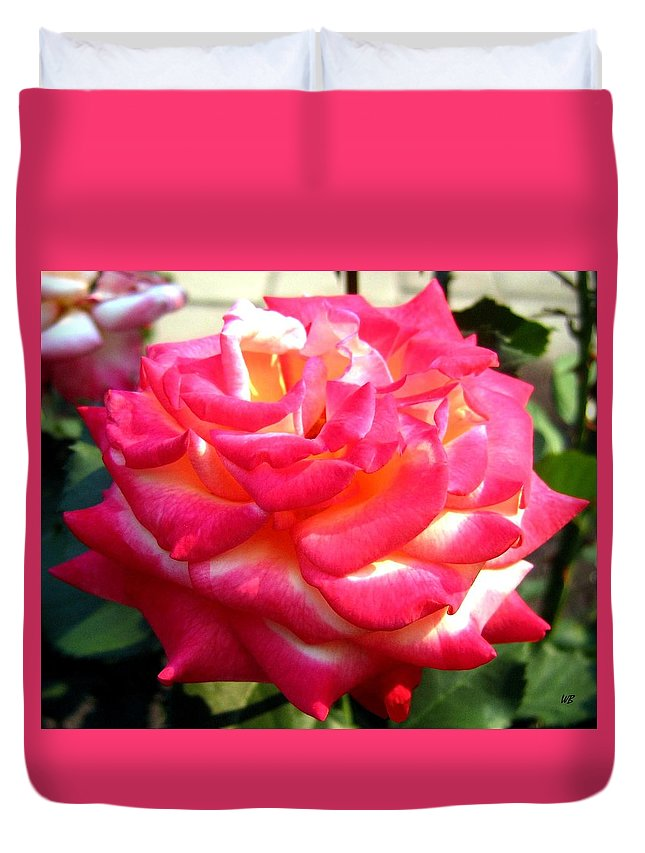 Rose Duvet Cover featuring the photograph Pink Perfection by Will Borden