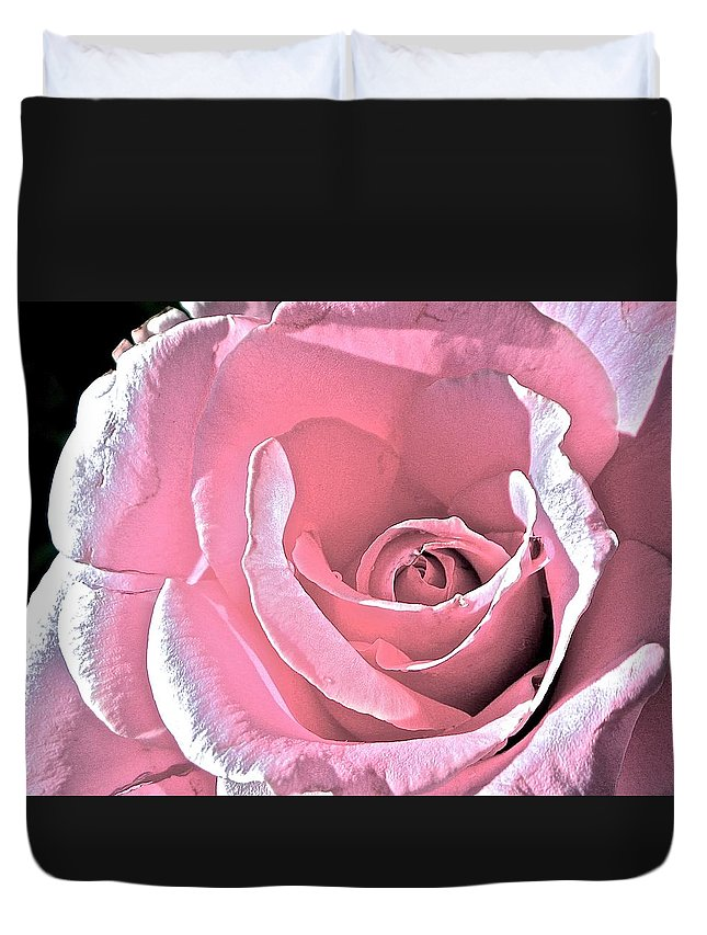 Rose Duvet Cover featuring the photograph Pink Rose by Danielle Sigmon