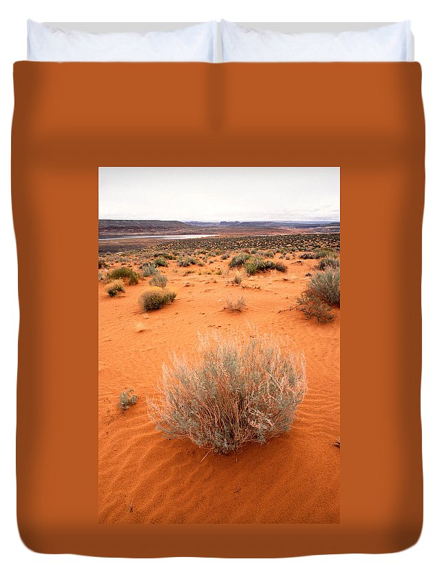 Lake Powell Duvet Cover featuring the photograph Pink Sand Of Lake Powell by Jerry McElroy