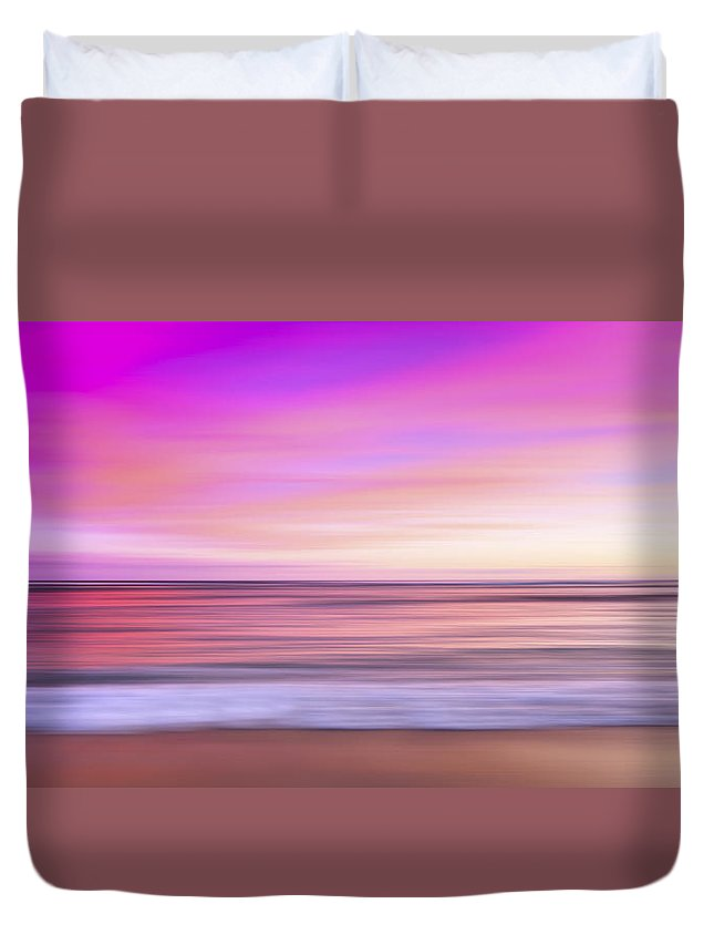 Pink Duvet Cover featuring the photograph Pink Waikiki by Sean Davey