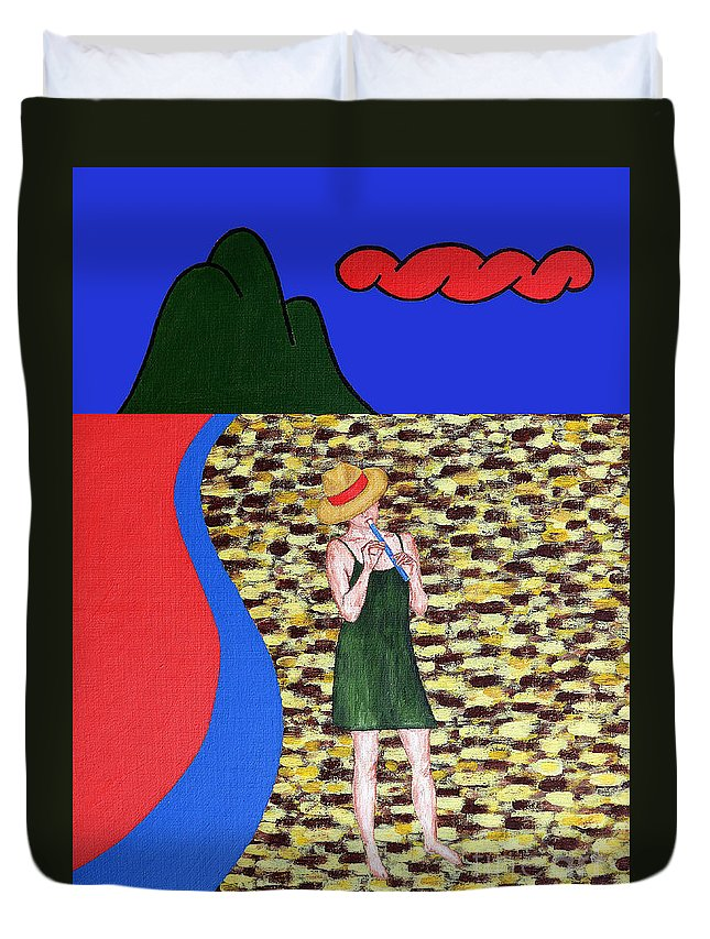 Piper Duvet Cover featuring the painting Piper 2 by Patrick J Murphy