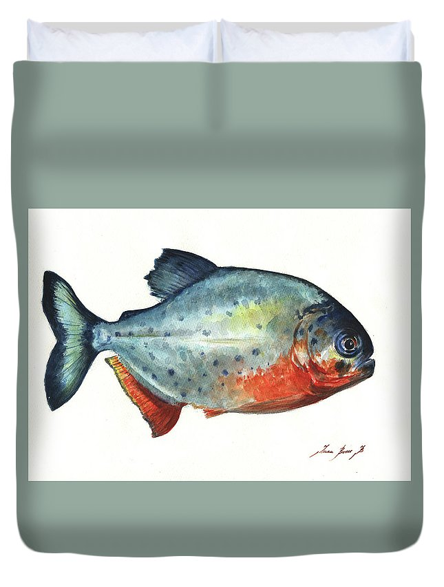 Piranha Fish Duvet Cover
