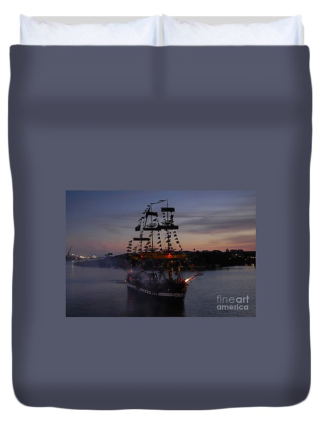 Pirates Duvet Cover featuring the photograph Pirate Invasion by David Lee Thompson