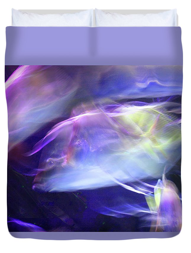 Abstract Duvet Cover featuring the photograph Pisces by Steve Karol