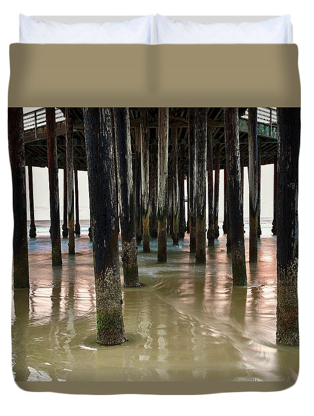 Pier Duvet Cover featuring the photograph Pismo Beach Pier by Freddie Bommer II