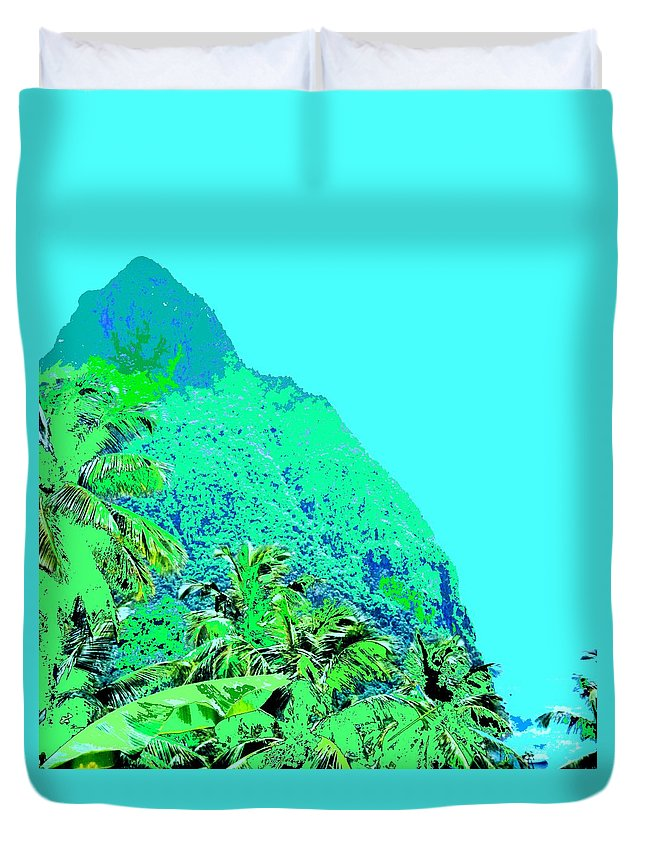 Pitons Duvet Cover featuring the photograph Pitons by Ian MacDonald