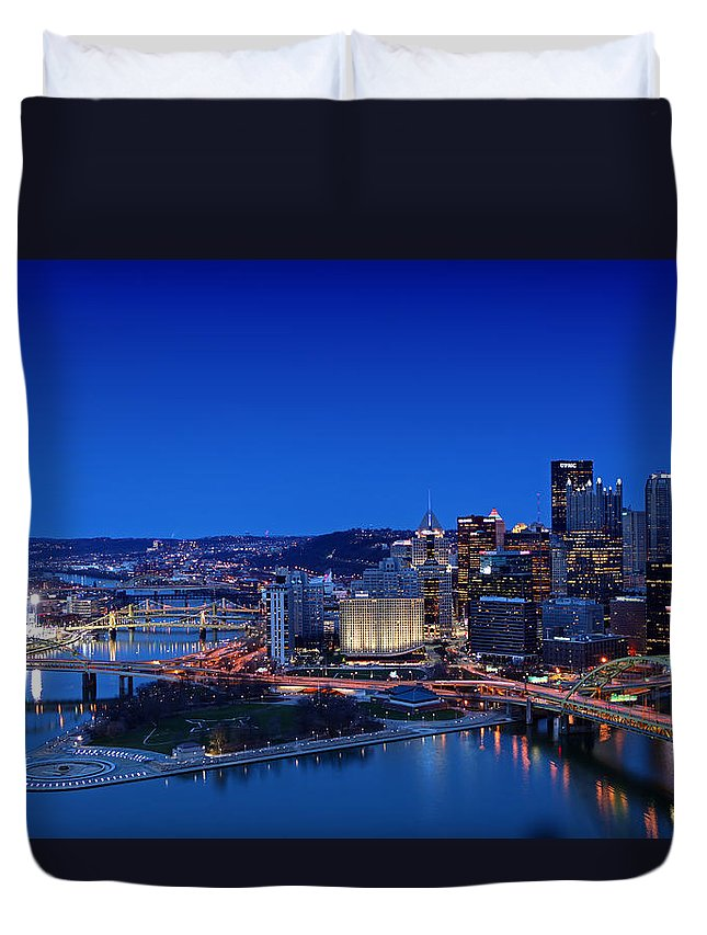 Pittsburgh Duvet Cover featuring the photograph Pittsburgh by Kevin D Haley