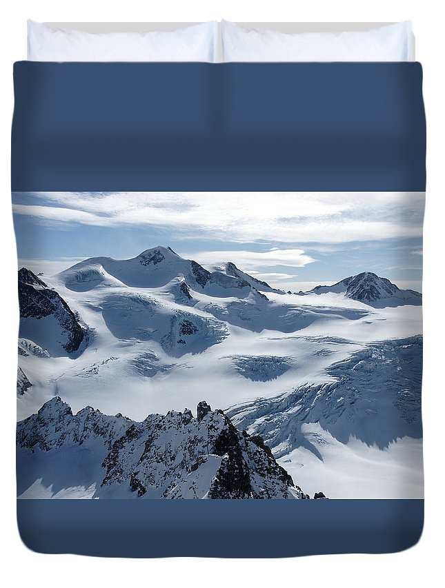 Pitztal Glacier Duvet Cover featuring the photograph Pitztal Glacier by Olaf Christian