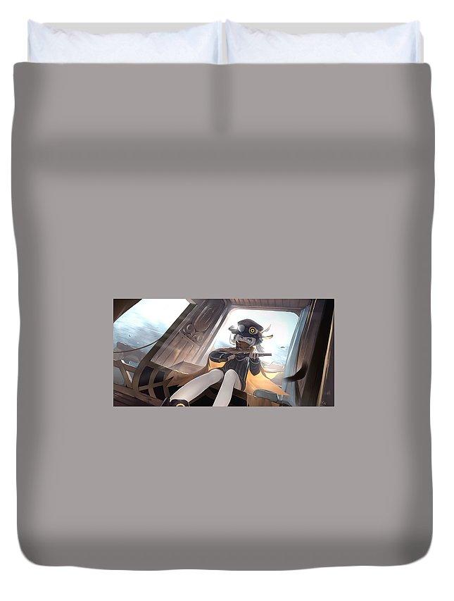 Pixiv Fantasia Rd Duvet Cover featuring the digital art Pixiv Fantasia Rd by Bert Mailer