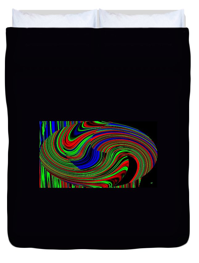 Abstract Duvet Cover featuring the digital art Pizzazz 18 by Will Borden
