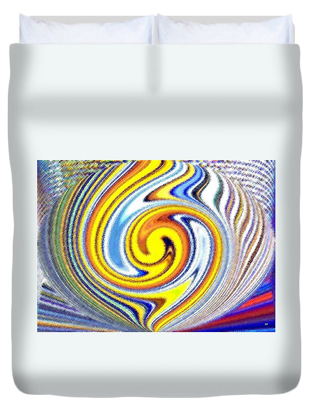 Abstract Duvet Cover featuring the digital art Pizzazz 25 by Will Borden