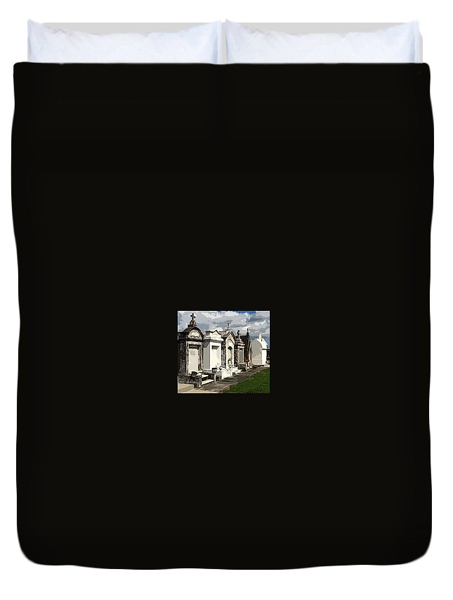 New Orleans Duvet Cover featuring the photograph Place Where Dead People Are Buried by Christopher Kerby