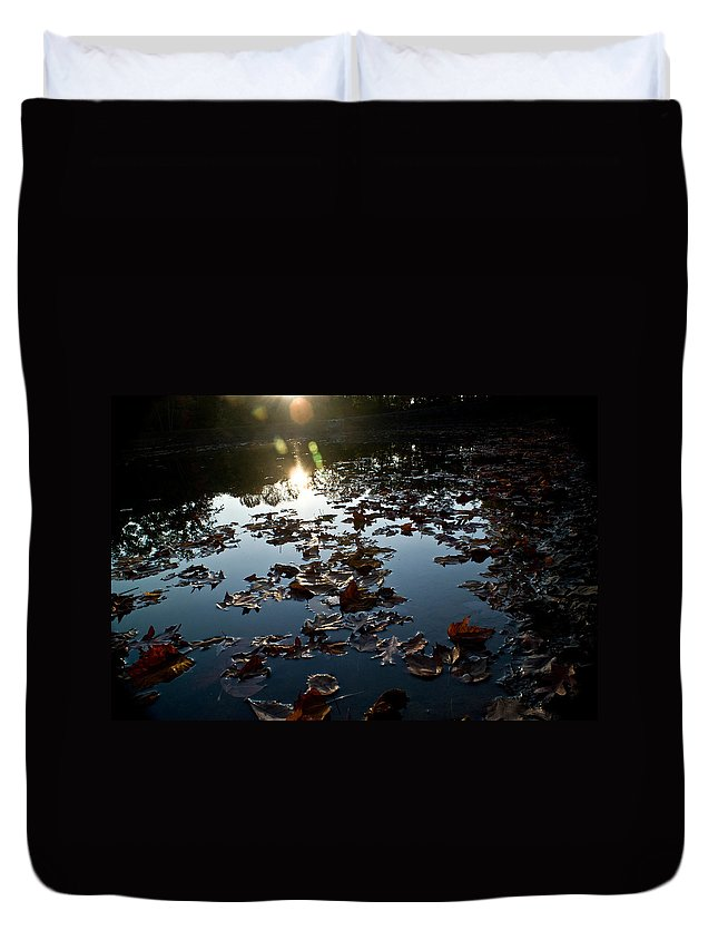 Placid Duvet Cover featuring the photograph Placid by Douglas Barnett
