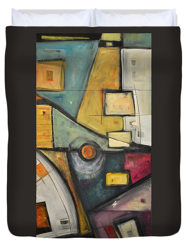 Planet Duvet Cover featuring the painting Planet Dada by Tim Nyberg