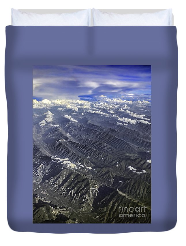 Mountains Duvet Cover featuring the photograph Planet Earth by Joseph Yvon Cote
