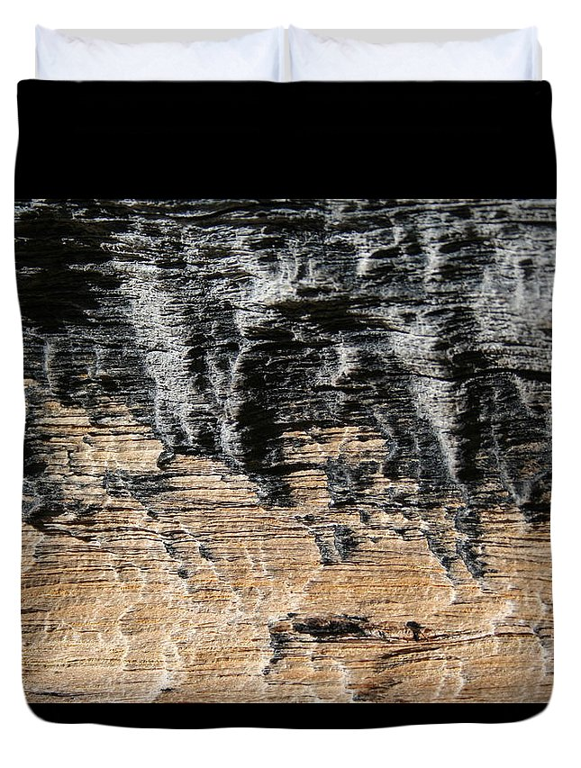 Abstract Duvet Cover featuring the photograph Planet Landing by Ric Bascobert