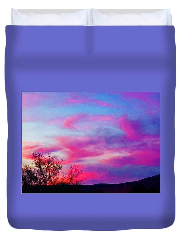 Duvet Cover featuring the photograph Playful Persuasion by Joy Elizabeth