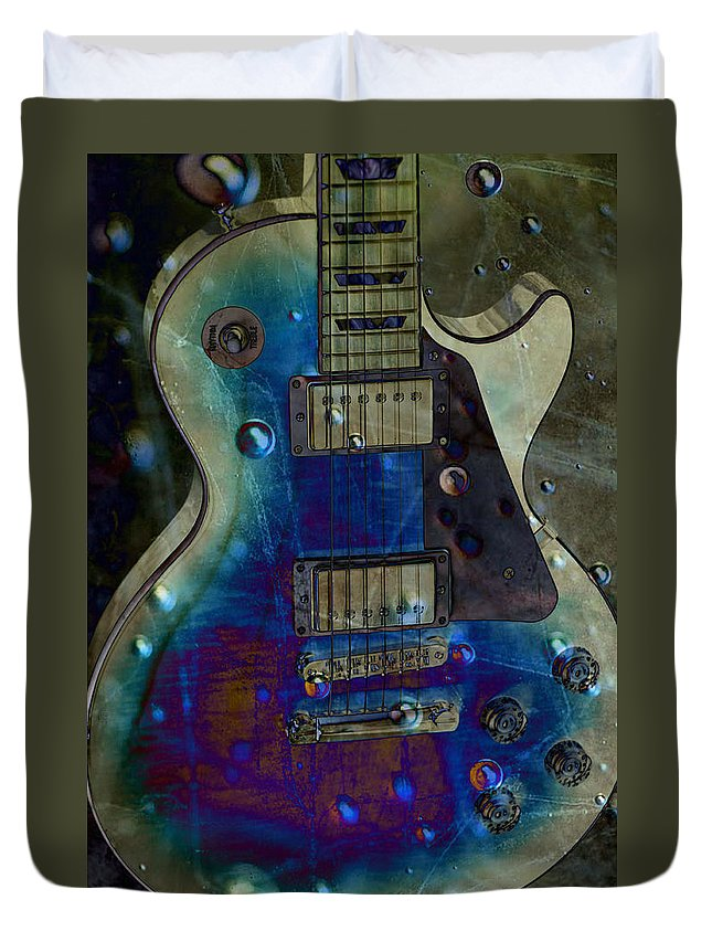 Guitars Duvet Cover featuring the photograph Playin The Blues by Jan Amiss Photography