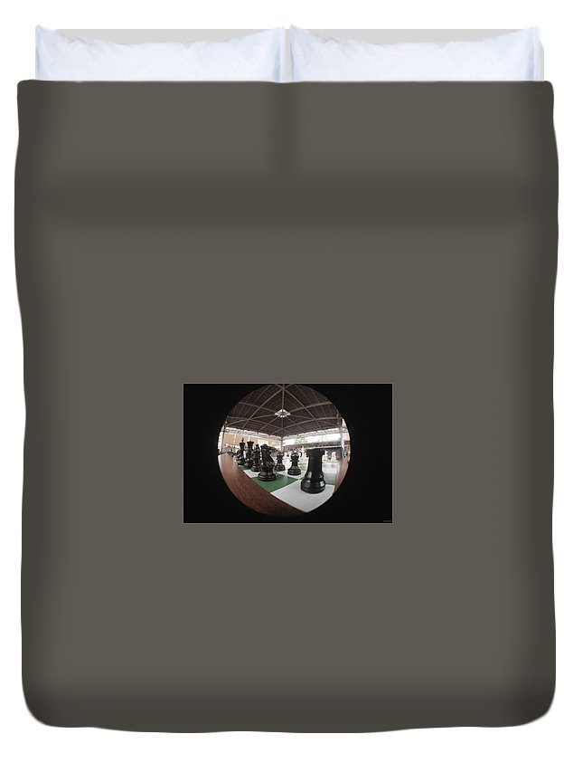 Chess Duvet Cover featuring the photograph Playing Black by David Cardona