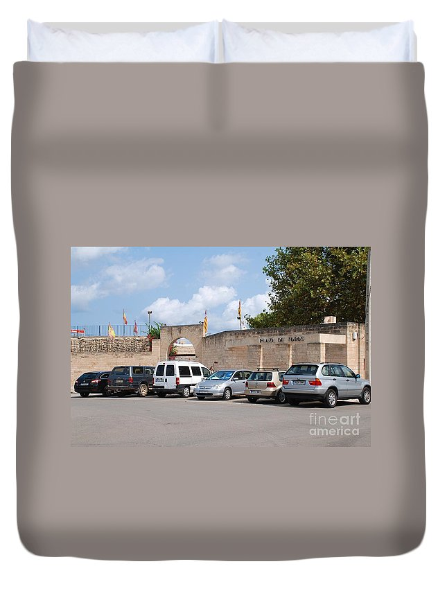 Alcudia Duvet Cover featuring the photograph Plaza De Toros Bullring In Majorca by David Fowler