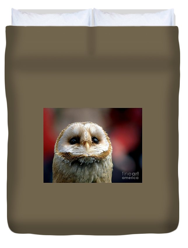 Wildlife Duvet Cover featuring the photograph Please by Jacky Gerritsen