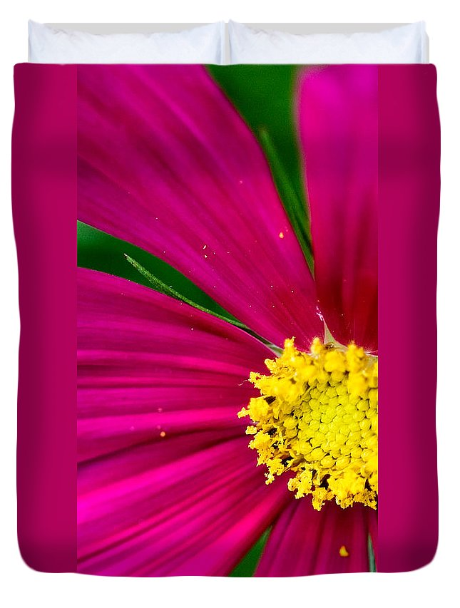Plink Duvet Cover featuring the photograph Plink Flower Closeup by Michael Bessler