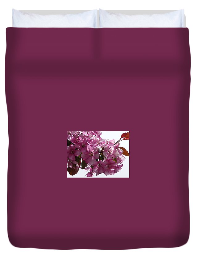 Flowers Duvet Cover featuring the photograph Plum Perfect by Ruth Kamenev
